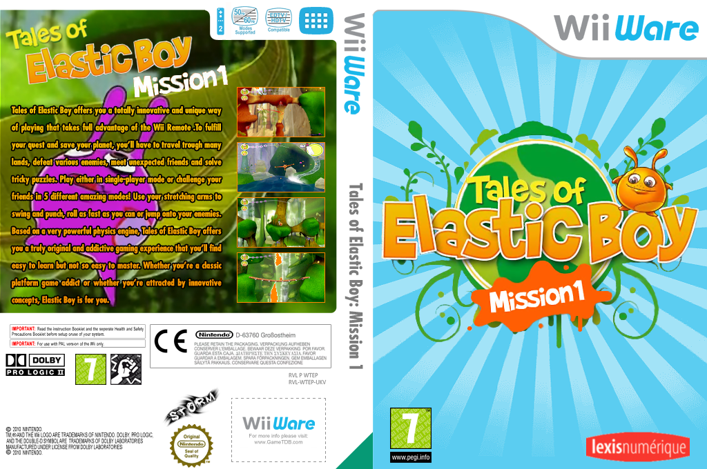 Tales of Elastic Boy Mission 1 Wii coverfullHQ (WTEP)