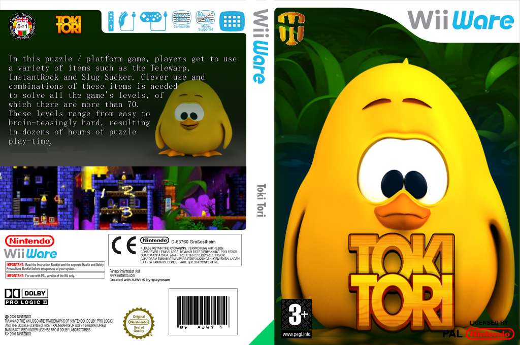 Toki Tori Wii coverfullHQ (WTTP)