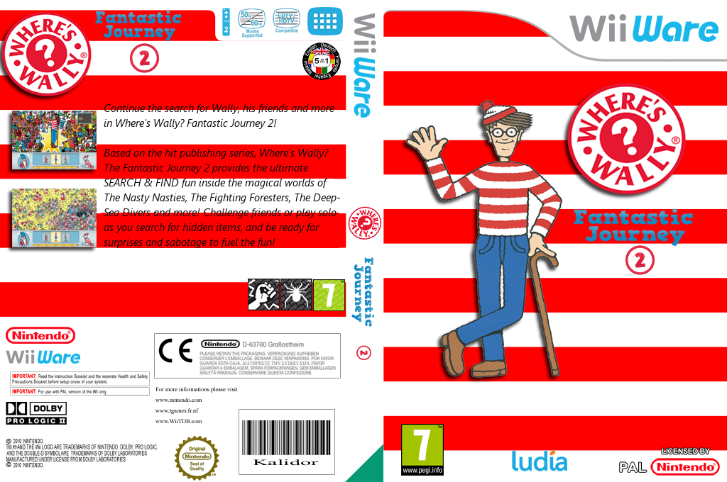 Where's Wally? Fantastic Journey 2 Wii coverfullHQ (WW2P)