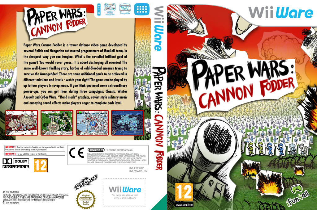 Paper Wars Cannon Fodder Wii coverfullHQ (WWXP)