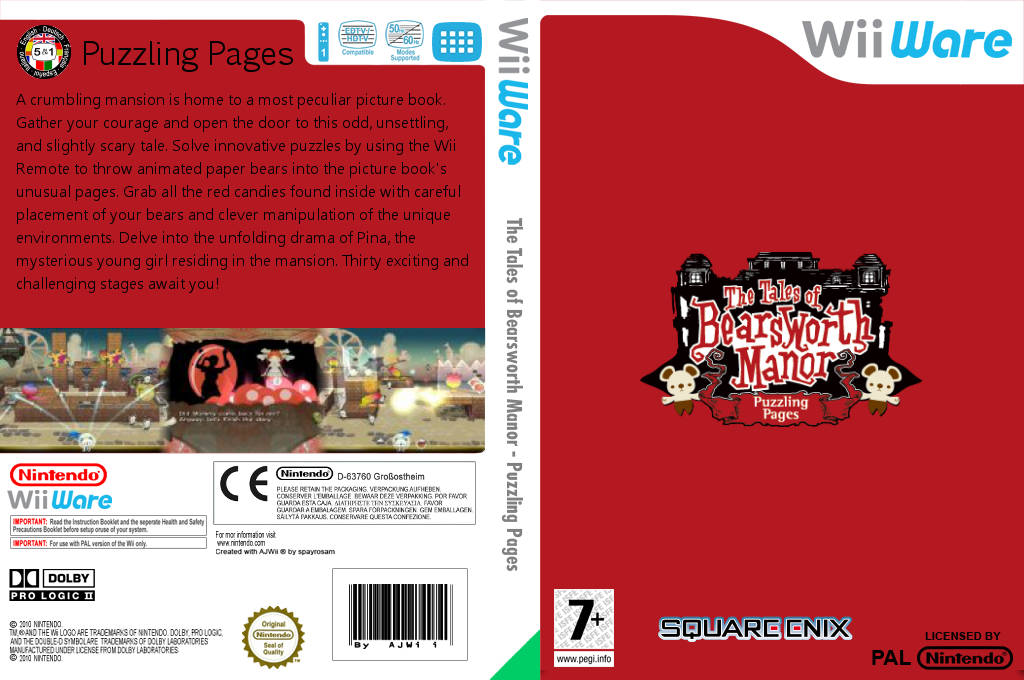 The Tales of Bearsworth Manor: Puzzling Pages Wii coverfullHQ (WZZP)