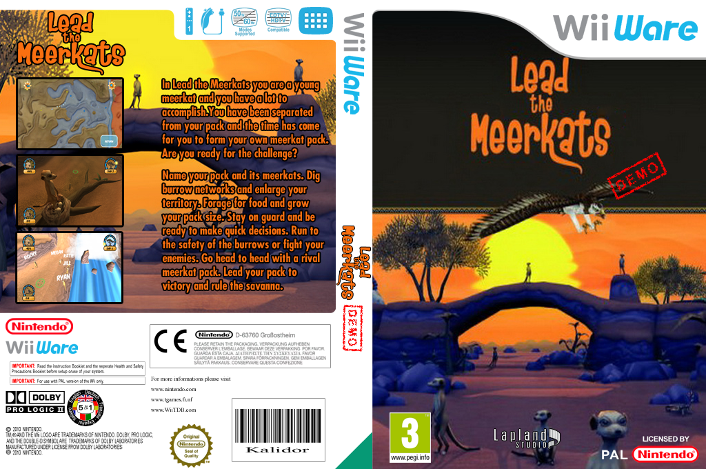 Lead the Meerkats (Demo) Wii coverfullHQ (XH8P)