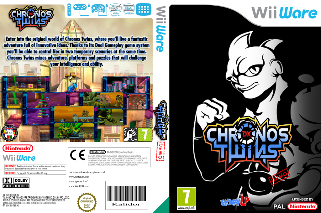 Chronos Twins DX (Demo) Wii coverfullHQ (XHZP)