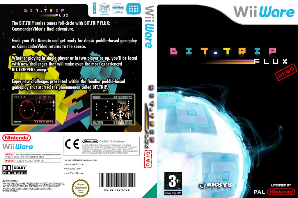 BIT.TRIP FLUX Demo Wii coverfullHQ (XISP)
