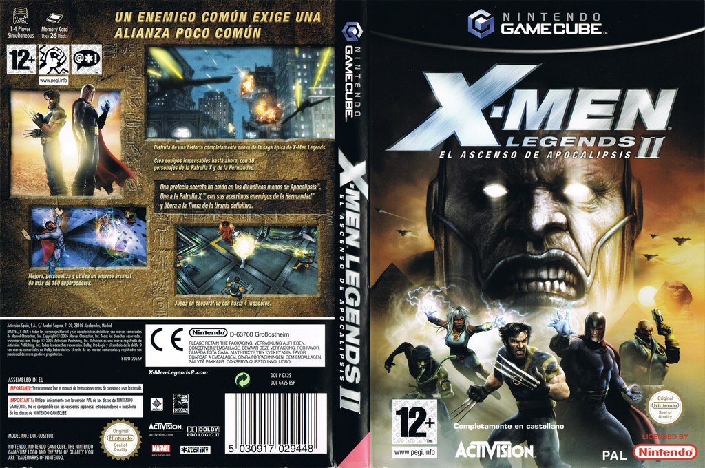 X-Men Legends II: El Ascenso de Apocalipsis Wii coverfullHQ (GX2S52)