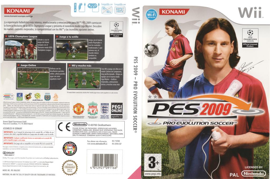 Pro Evolution Soccer 2009 Wii coverfullHQ (R2WXA4)