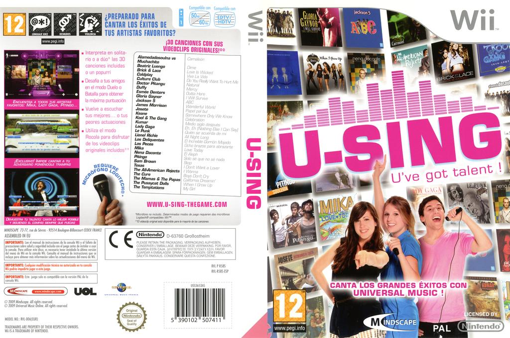 U-Sing Wii coverfullHQ (R58SMR)