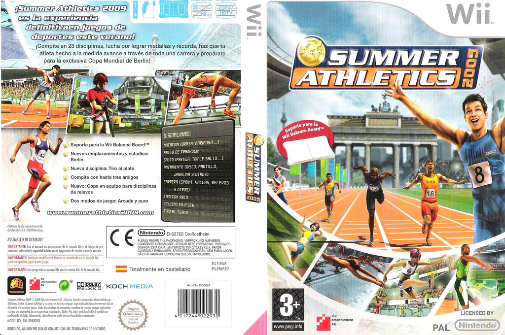 Summer Athletics 2009 Wii coverfullHQ (R9MPFR)