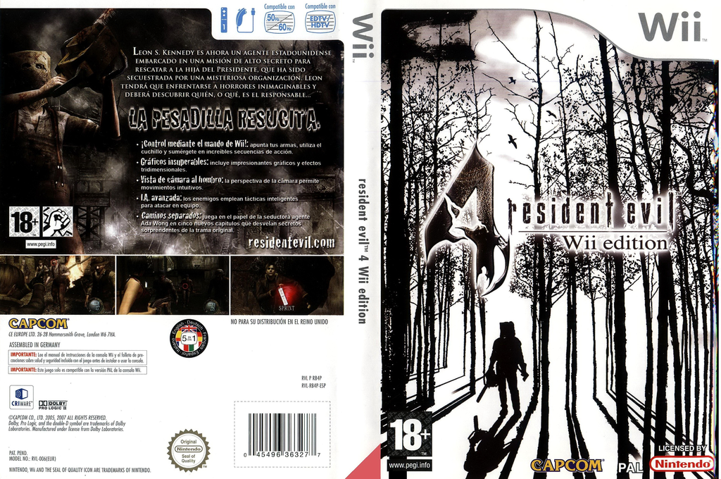 Resident Evil 4: Wii Edition Wii coverfullHQ (RB4P08)