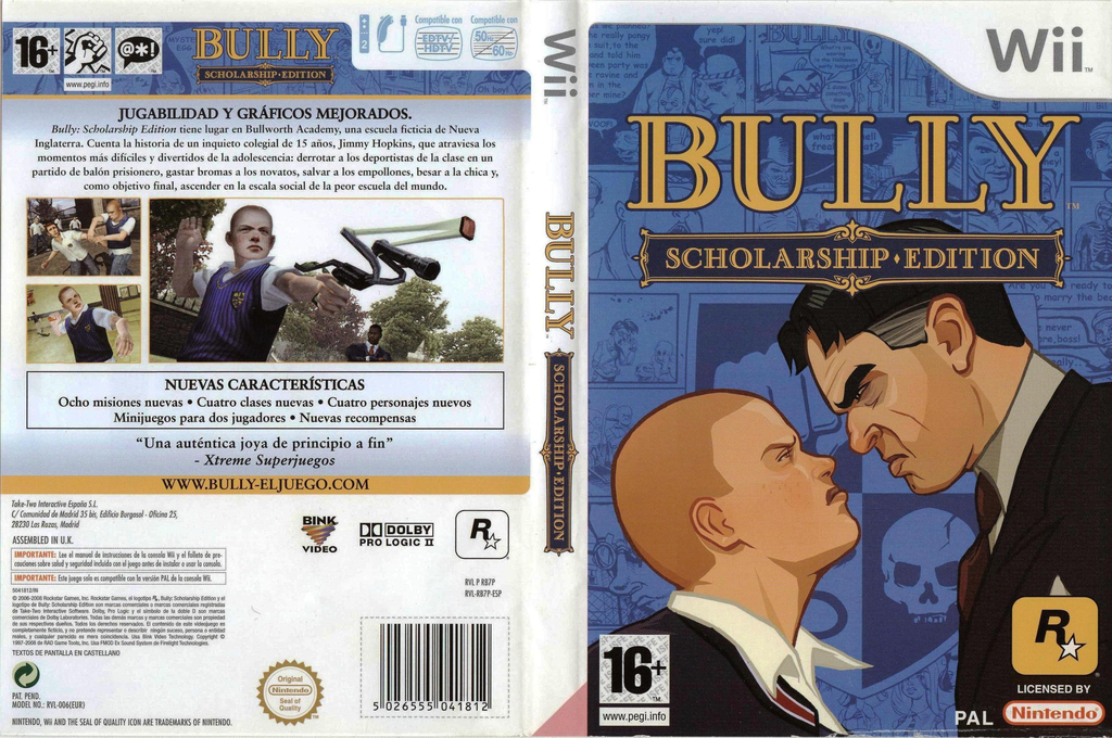 Bully: Scholarship Edition Wii coverfullHQ (RB7P54)