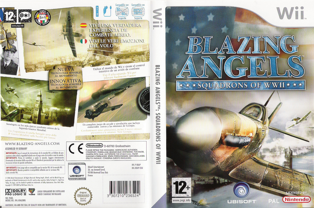 Blazing Angels: Squadrons of WWII Wii coverfullHQ (RBAP41)