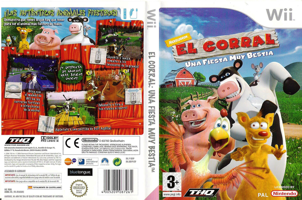 El Corral: Una Fiesta Muy Bestia Wii coverfullHQ (RBYP78)