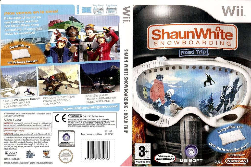 Shaun White Snowboarding: Road Trip Wii coverfullHQ (RDFP41)