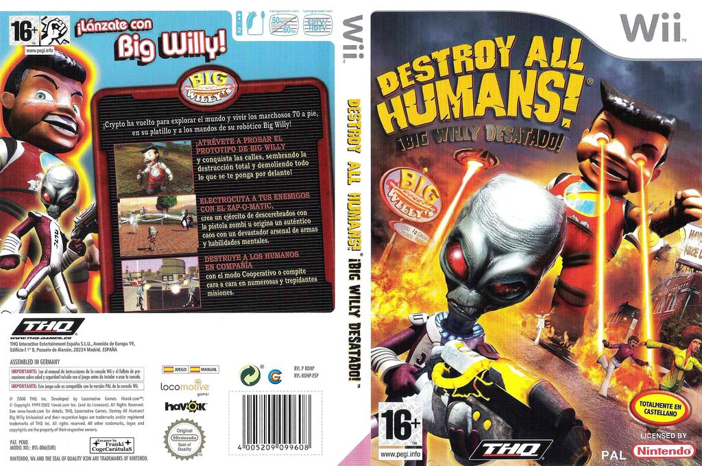 Destroy All Humans! Big Willy Desatado! Wii coverfullHQ (RDHP78)