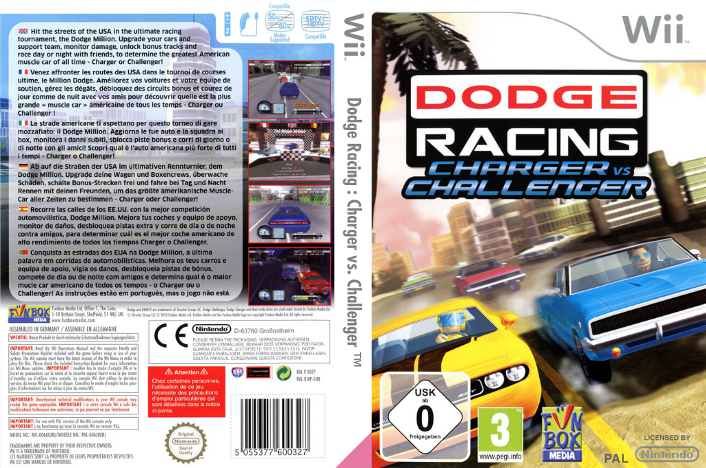 Dodge Racing: Charger vs. Challenger Wii coverfullHQ (RIXP7J)