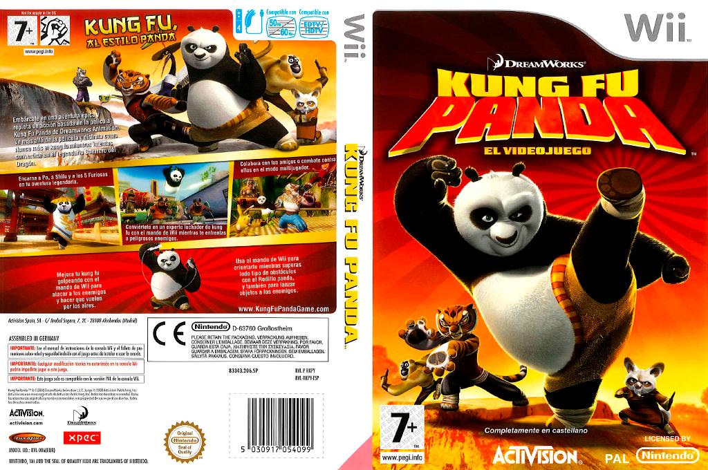 Kung Fu Panda: El Videojuego Wii coverfullHQ (RKPY52)