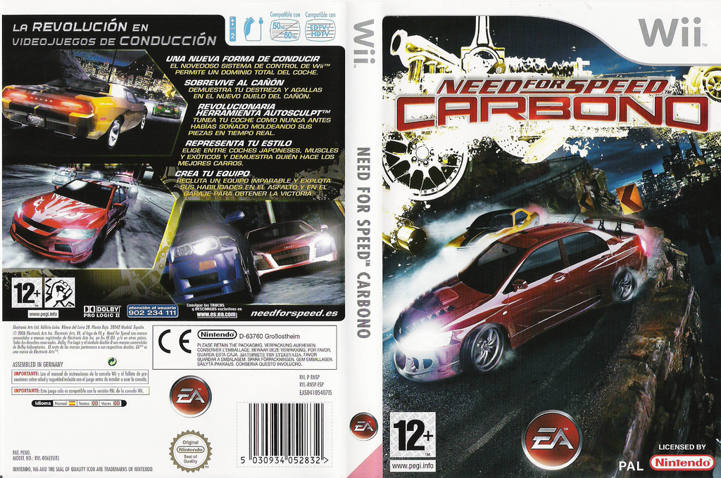 Need for Speed: Carbono Wii coverfullHQ (RNSP69)