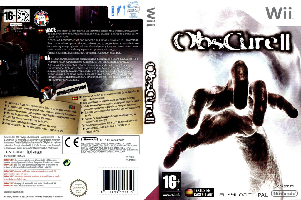 Obscure II Wii coverfullHQ (ROBPPL)