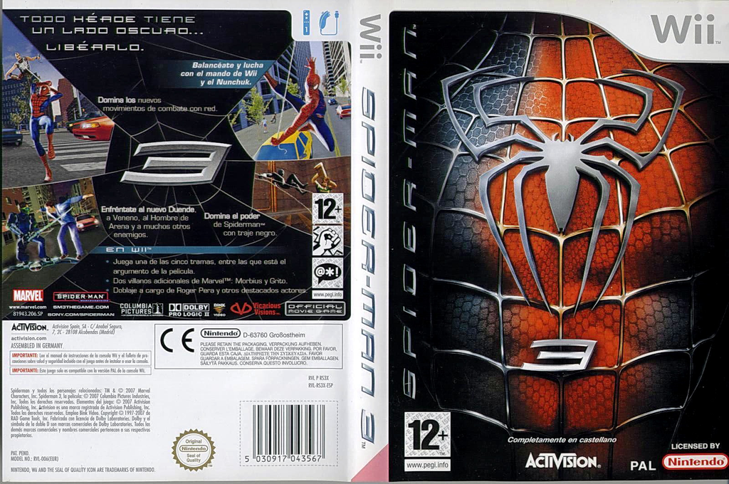 Spider-Man 3 Wii coverfullHQ (RS3X52)