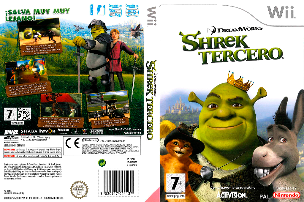 Shrek Tercero Wii coverfullHQ (RSKX52)