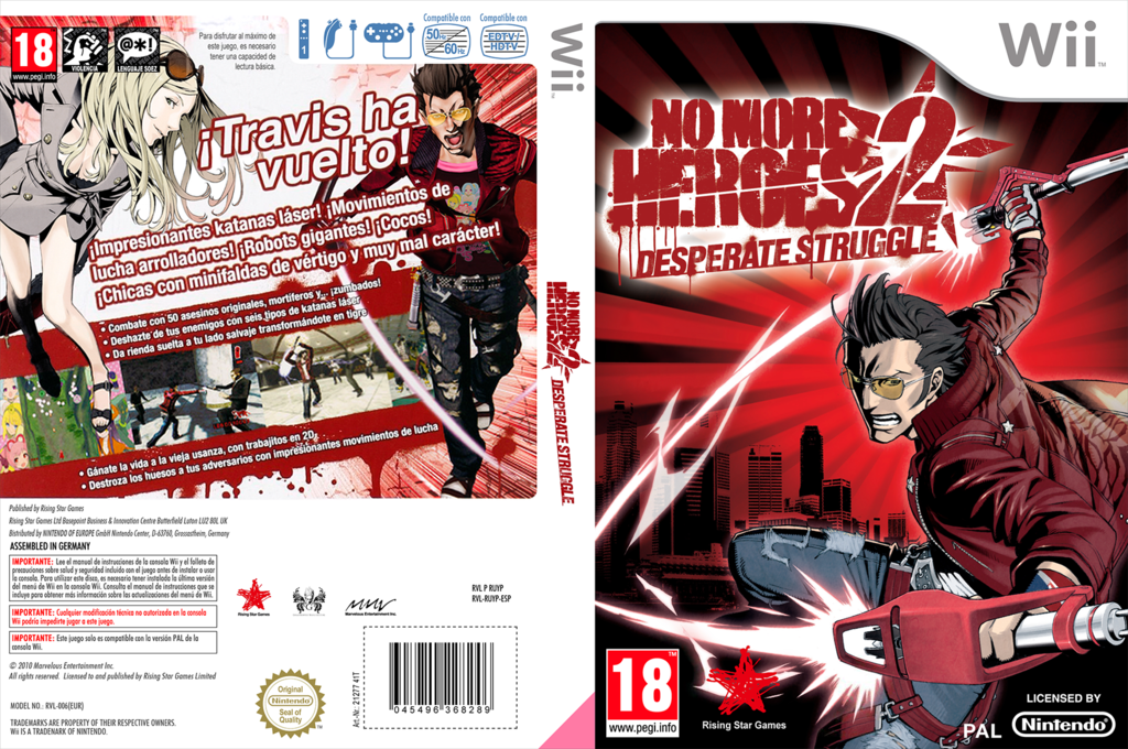 No More Heroes 2: Desperate Struggle Wii coverfullHQ (RUYP99)
