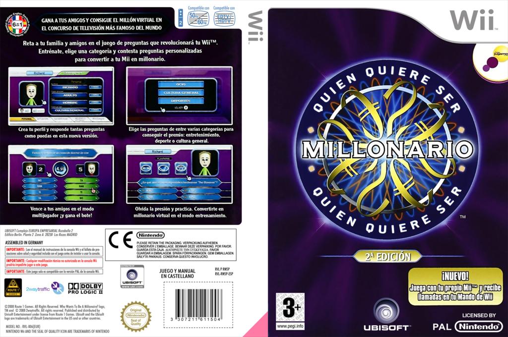 ¿Quién Quiere Ser Millonario? 2da Edición Wii coverfullHQ (RW5F41)