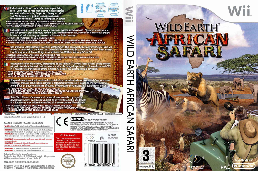 Wild Earth: African Safari Wii coverfullHQ (RWDP5G)