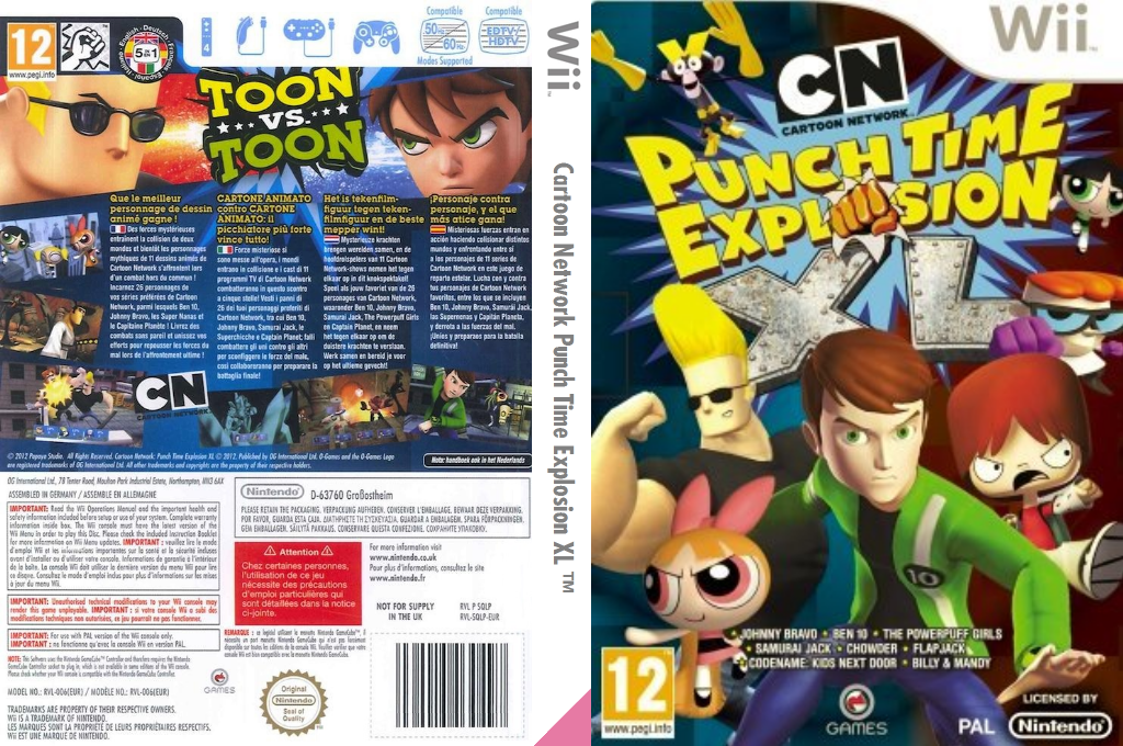 Cartoon Network: Explosión de Puñetazos XL Wii coverfullHQ (SQLPGN)