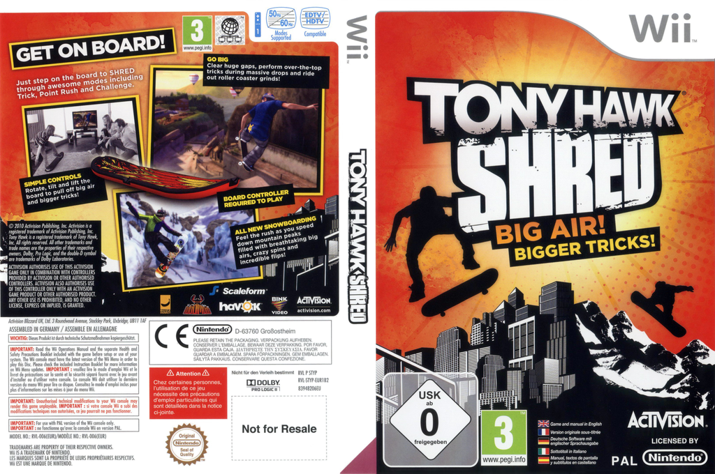 Tony Hawk: Shred Wii coverfullHQ (STYP52)
