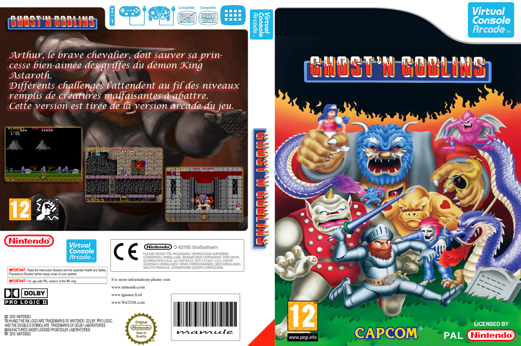 GHOSTS'N GOBLINS Wii coverfullHQ (E54P)