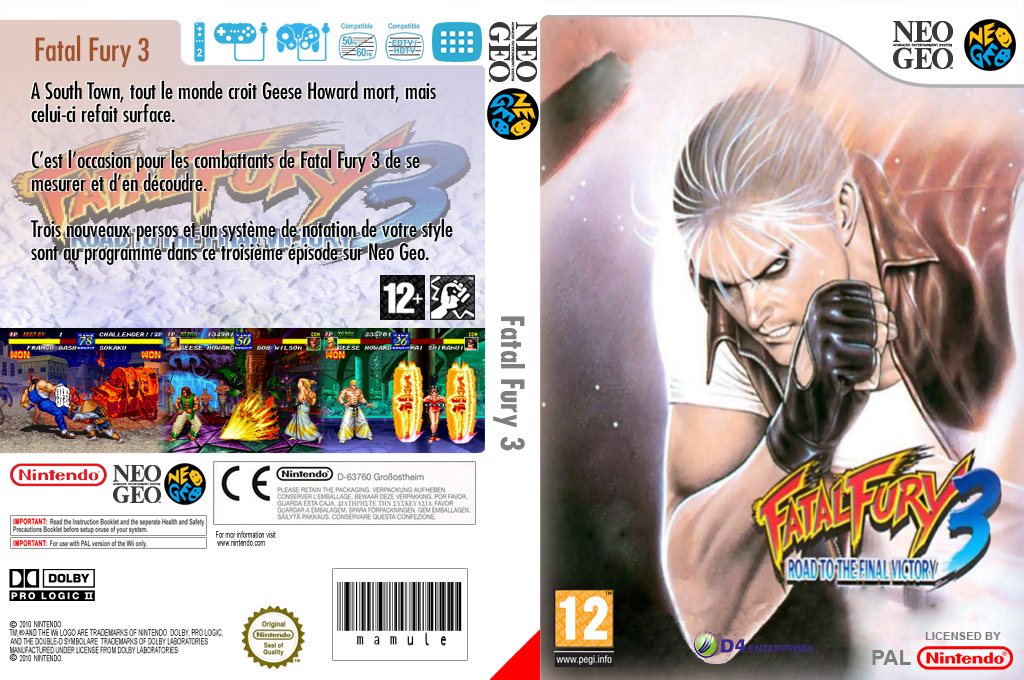 Fatal Fury 3 : Road To The Final Victory Wii coverfullHQ (EA5P)