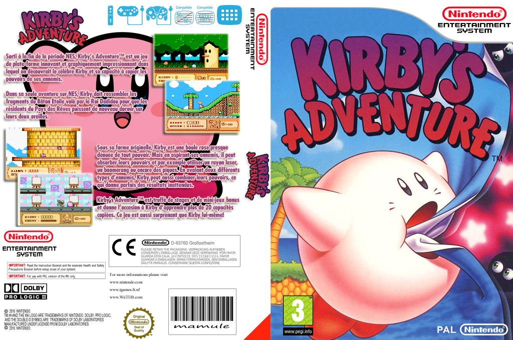 Kirby's Adventure Wii coverfullHQ (FA8F)
