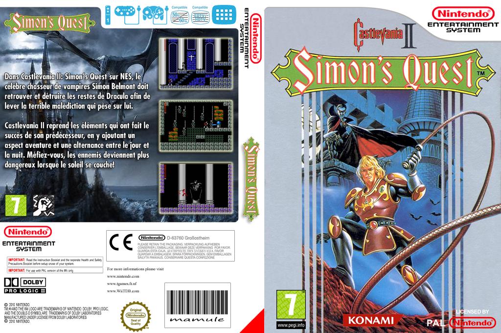 Castlevania II : Simon's Quest Wii coverfullHQ (FC8P)