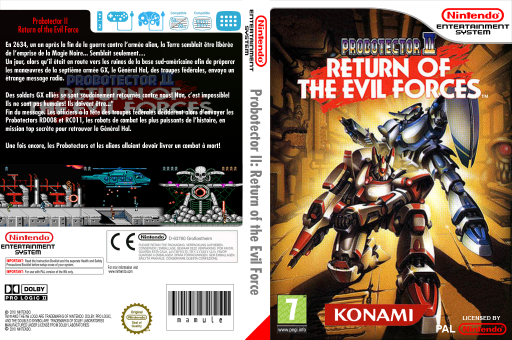 Probotector II : Return of the Evil Forces Wii coverfullHQ (FCSP)