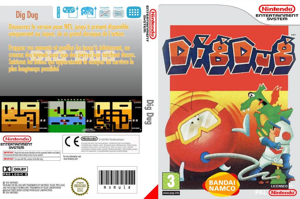 Dig Dug Wii coverfullHQ (FEDL)