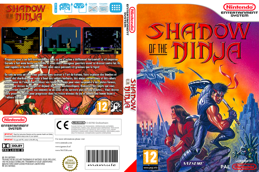 Shadow of the Ninja Wii coverfullHQ (FFQM)