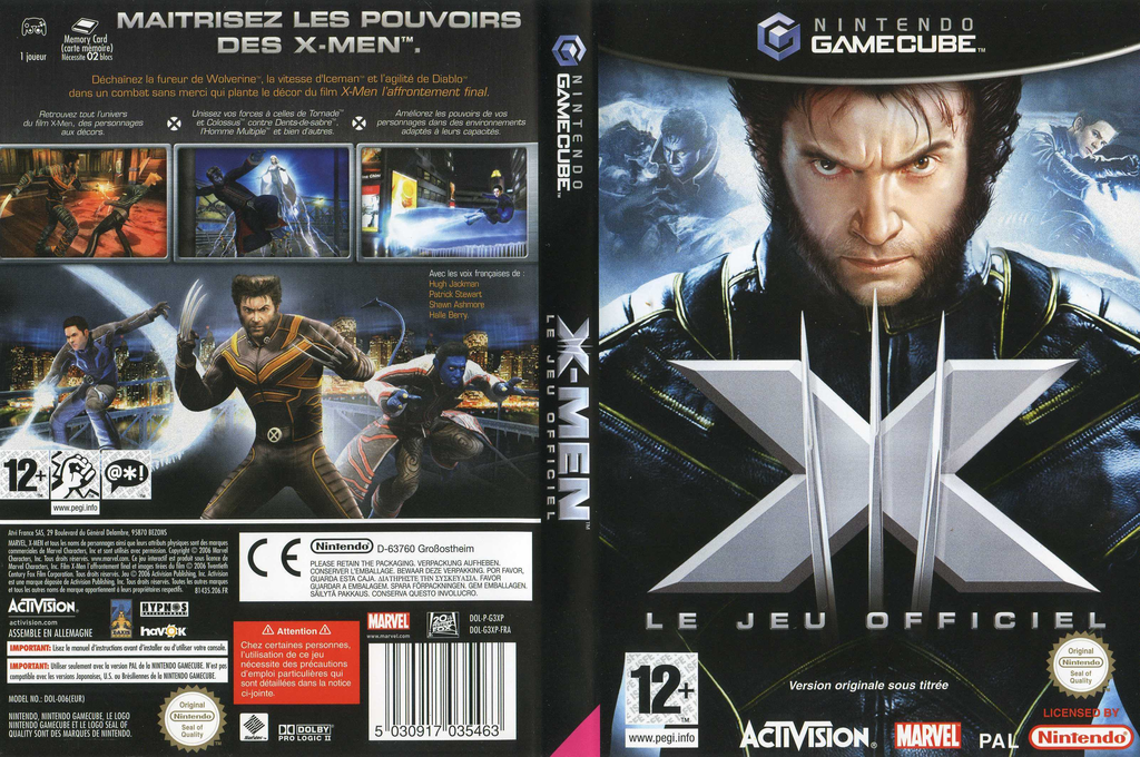 X-Men: Le Jeu Officiel Wii coverfullHQ (G3XP52)