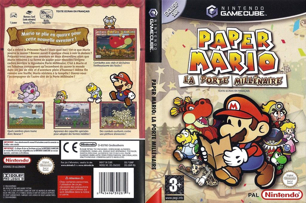 Paper Mario: La Porte Millénaire Wii coverfullHQ (G8MP01)