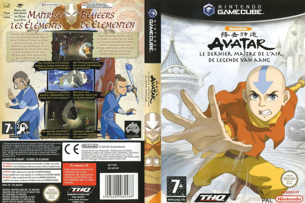 Avatar : Le Dernier Maître de l'Air Wii coverfullHQ (GAVY78)
