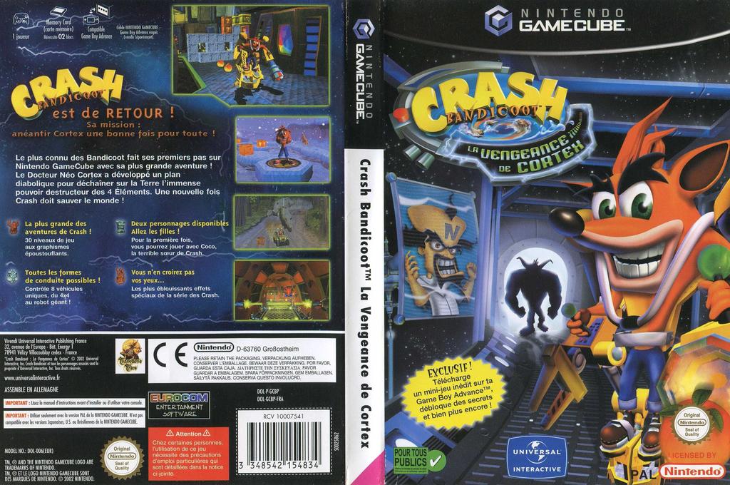 crash bandicoot la vengeance de cortex gamecube
