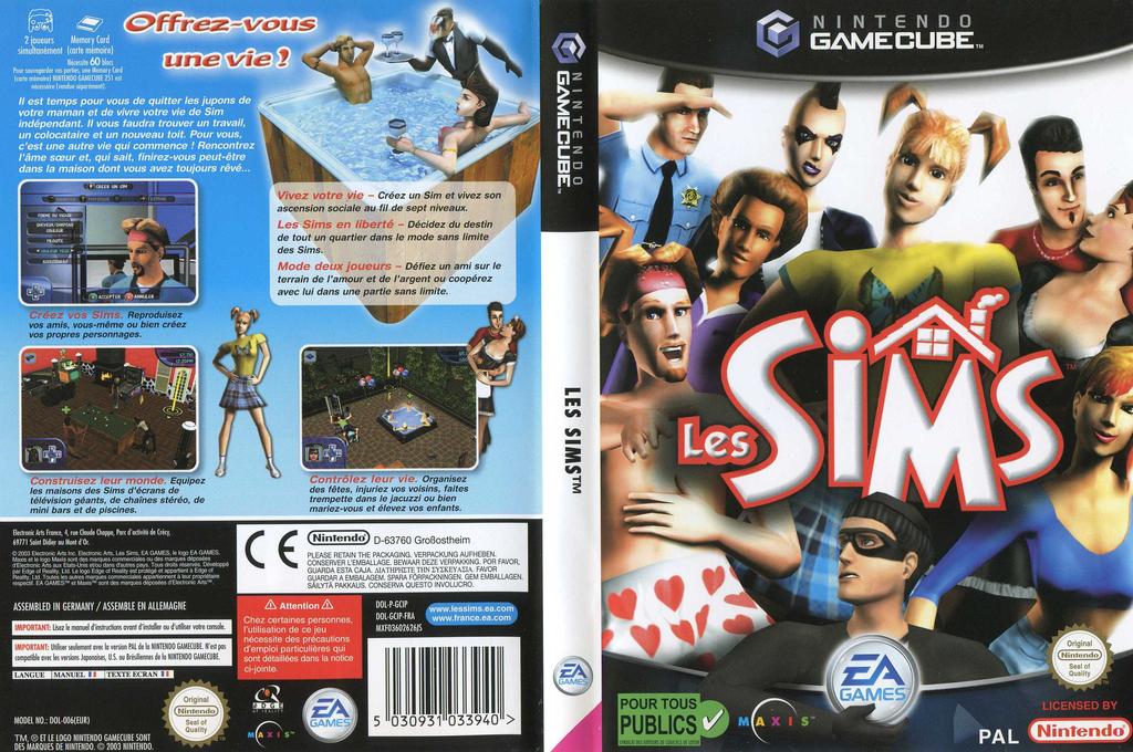 Les Sims Wii coverfullHQ (GCIP69)