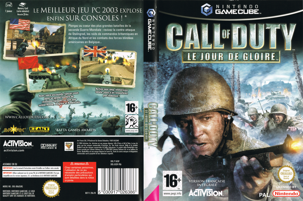 Call of Duty : Le Jour De Gloire Wii coverfullHQ (GCOF52)
