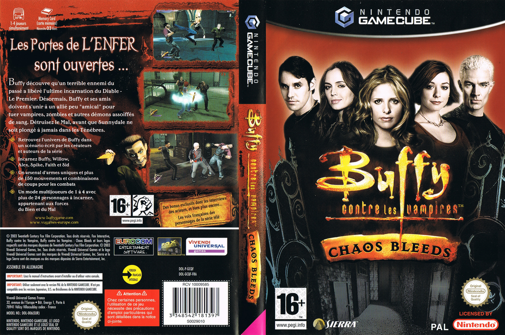 Buffy contre les Vampires:Chaos Bleeds Wii coverfullHQ (GCQF7D)