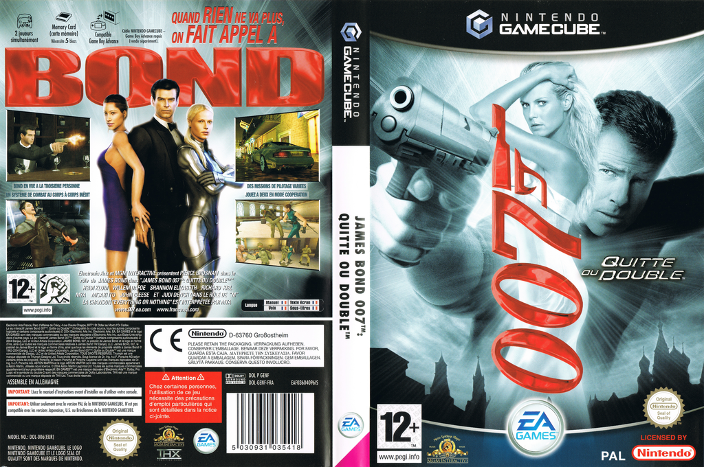 James Bond 007: Quitte ou Double Wii coverfullHQ (GENF69)