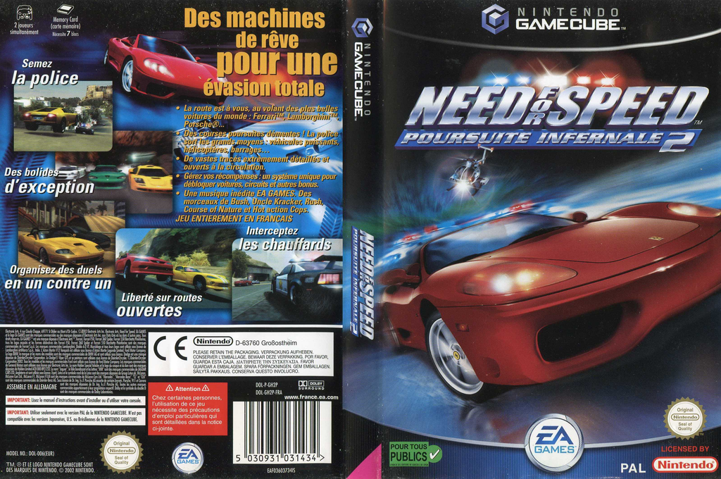 Need for Speed : Poursuite Infernale 2 Wii coverfullHQ (GH2P69)