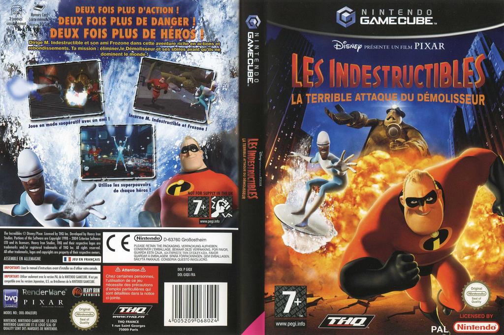 Les Indestructibles:La Terrible Attaque du Démolisseur Wii coverfullHQ (GIQX78)
