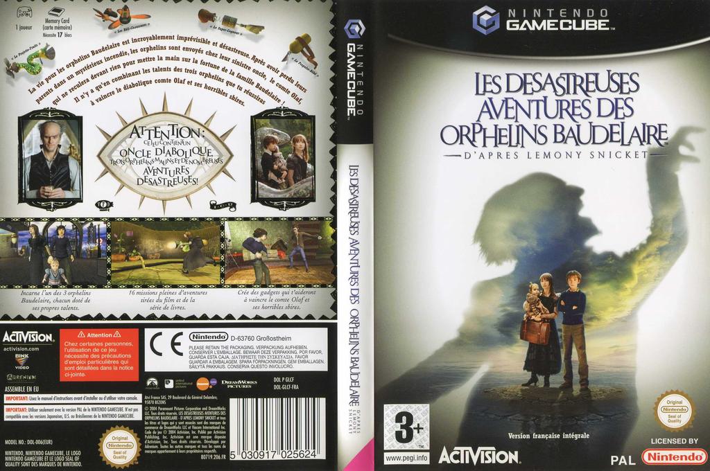 Les Desastreuses Aventures des Orphelins Baudelaire Wii coverfullHQ (GLCF52)