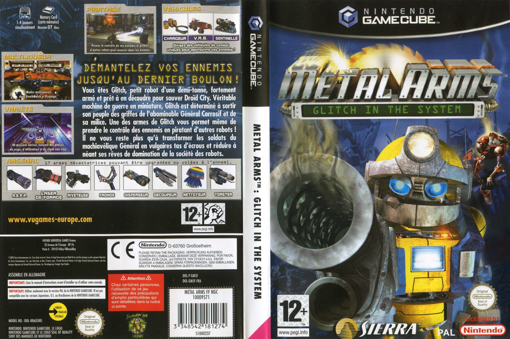 Metal Arms:Glitch in the System Wii coverfullHQ (GM5F7D)