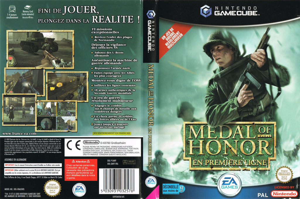 Medal of Honor:En Première Ligne Wii coverfullHQ (GMFF69)