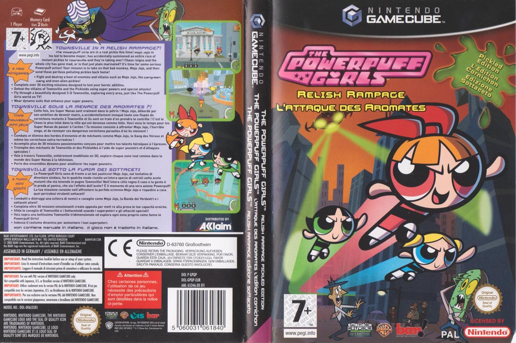 The Powerpuff Girls: L'Attaque des Aromates Wii coverfullHQ (GPQP6L)